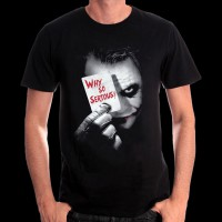 T-Shirt Batman DC Comics - Joker Why so serious ? L (METDKTMTS004)