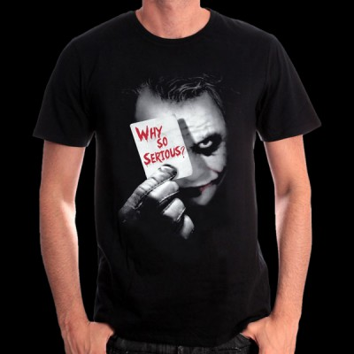T-Shirt Batman DC Comics - Joker Why so serious ? M (METDKTMTS004)