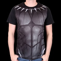 T-Shirt Black Panther Marvel - Black Panther Costume S (MEBLPAMTS006)