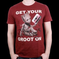 T-Shirt GOTG 2 Marvel - Get your Groot On. L (MEGUGAMTS072)