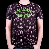 T-Shirt Joker DC Comics Suicide Squad - Ahahahah The Joke Subli S (MESUSQMTS029)