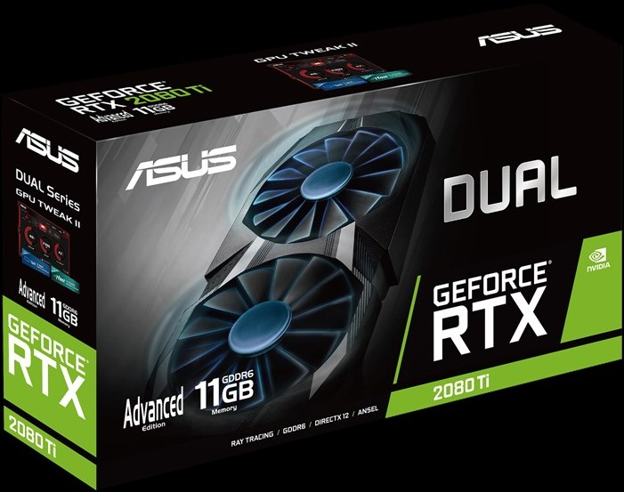 ASUS Dual GeForce RTX 2080 Ti упаковка