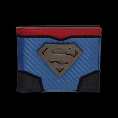 DC Comics Superman Carbon Fiber Metal Badge Bifold Wallet (MW5ELQSPM) купить