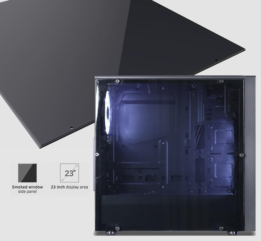 Полупрозрачная боковая панель