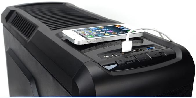 Возможность синхронизации со смартфоном и внешним жерстким диском Zalman Z3 Plus