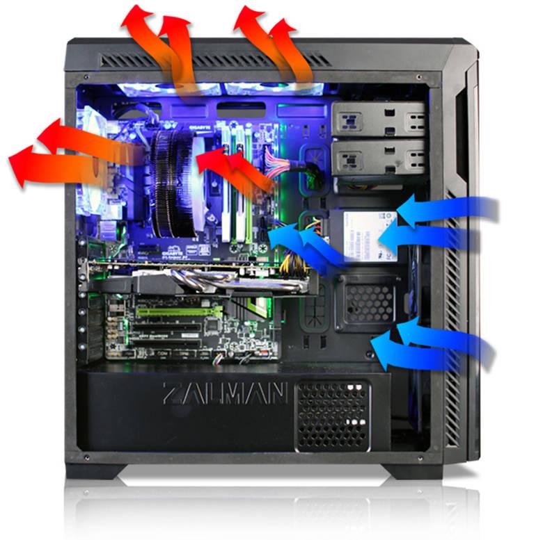 Система охлаждения потоками воздуха