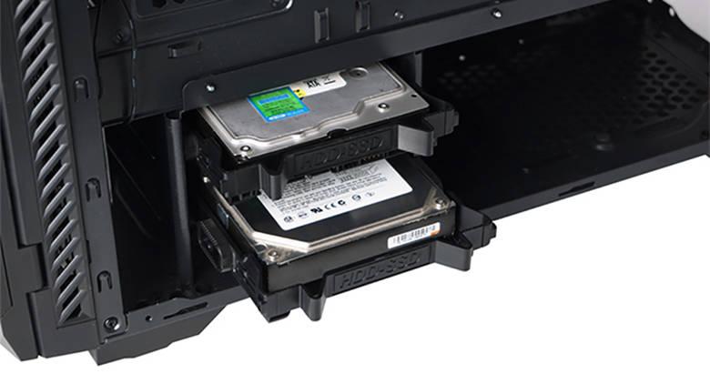 Место для установки жестких дисков