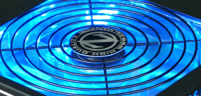 140-мм тихий синий светодиодный вентилятор